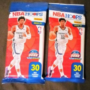 (2) 2020-21 NBA Hoops Value Pack Lot NEW